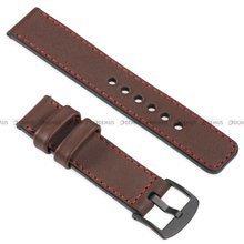Pasek skórzany do zegarka lub smartwatcha - moVear WQU0C01RE00BKMM26B1 - 26 mm