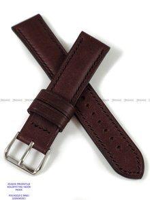 Pasek skórzany ręcznie robiony A. Kucharski Leather - Conceria Puccini Uragano - burgundy/black 24 mm