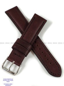 Pasek skórzany ręcznie robiony A. Kucharski Leather - Conceria Puccini Uragano - burgundy/black 26 mm