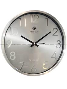 Zegar ścienny Perfect PW267-1700-4-Silver - 36 cm