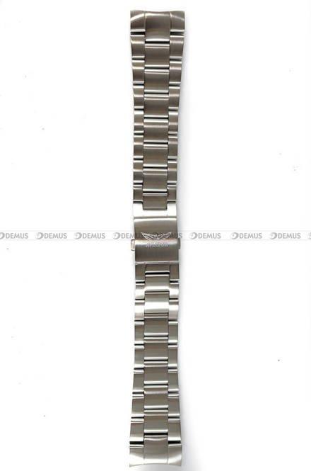 Bransoleta do zegarka Aviator P45 - 22 mm - srebrna