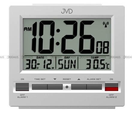 Budzik cyfrowy z termometrem, sterowany radiowo JVD RB9371.1