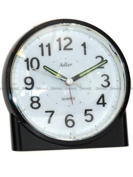 Budzik z płynąca wskazówką Adler PT244-1519-2-CZA - 12x11 cm