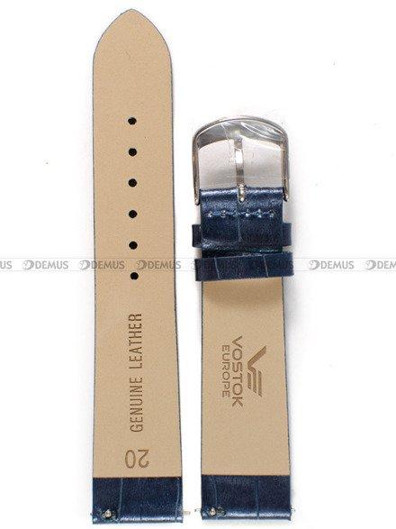 Pasek skórzany do zegarka Vostok Europe Undine VK64-515A526 croco - 20 mm