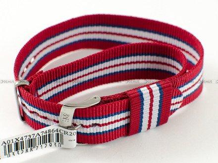Pasek bawełniany do zegarka - Morellato A01X4737A74864 - 20 mm