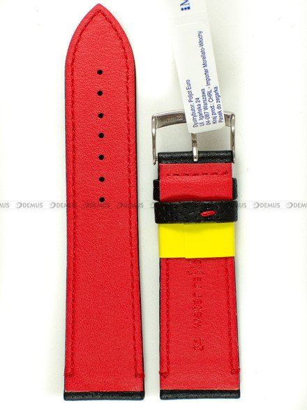 Pasek do zegarka wodoodporny skórzany - Morellato A01X4909C18883CR24 24 mm