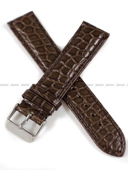 Pasek do zegarka ze skóry aligatora ręcznie robiony - Tekla PT72.20.2.2 - 20 mm