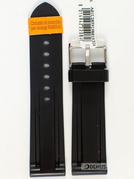 Pasek gumowy do zegarka - Morellato A01U2859198019 24mm