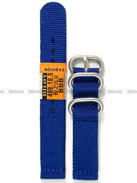 Pasek nylonowy do zegarka - Diloy 408.18.5 - 18 mm