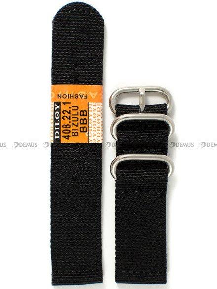 Pasek nylonowy do zegarka - Diloy 408.22.1 - 22 mm