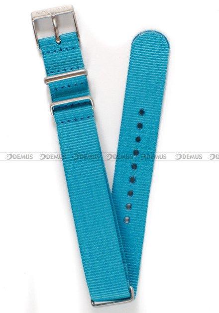 Pasek nylonowy do zegarka Nautica A09639M - 18 mm