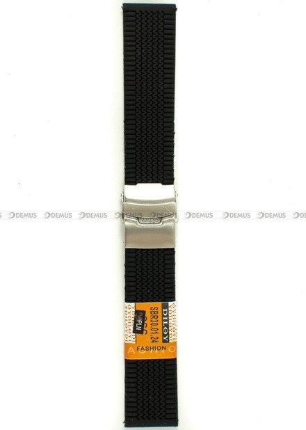 Pasek silikonowy Diloy do zegarka - SBR30.24.1 - 24 mm