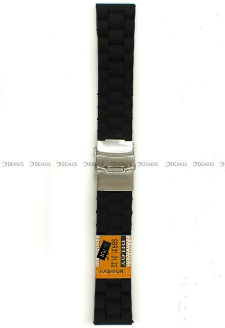 Pasek silikonowy Diloy do zegarka - SBR31.22.1 - 22 mm