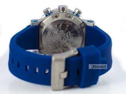 Pasek silikonowy ciemny niebieski do zegarka Vostok Lunokhod 6S30-6205213 - 25 mm