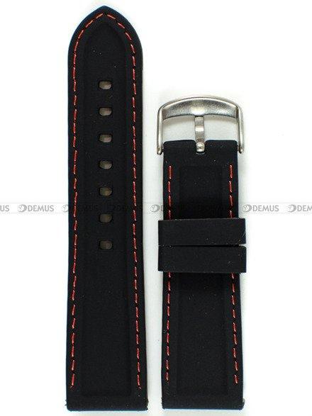 Pasek silikonowy do zegarka - Chermond PG1.24.1.4 - 24 mm