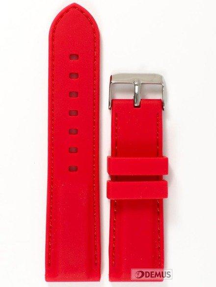 Pasek silikonowy do zegarka - Chermond PG1.24.4.4 - 24 mm