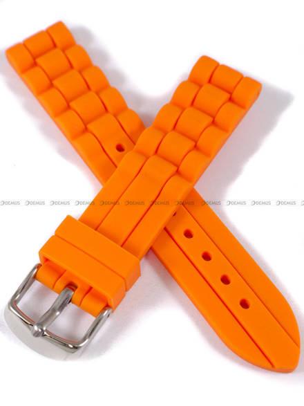 Pasek silikonowy do zegarka - Chermond PG4.18.5 - 18 mm