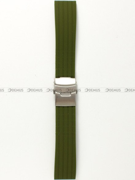 Pasek silikonowy do zegarka - Chermond PG6.22.3 - 22 mm