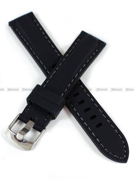 Pasek silikonowy do zegarka - Demus PGS3.18.1.11 - 18 mm