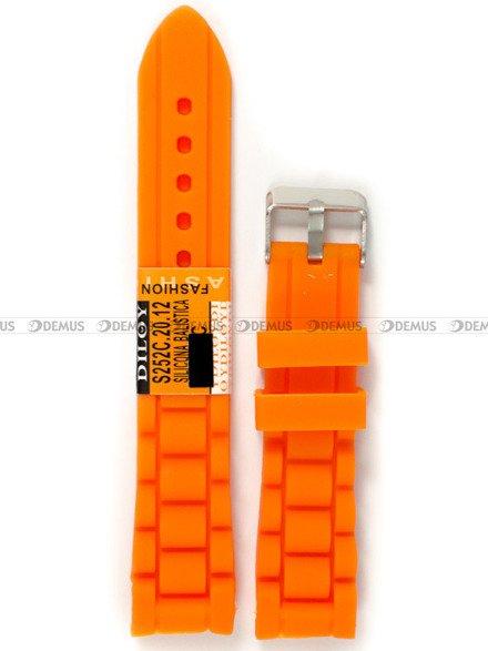 Pasek silikonowy do zegarka - Diloy S252C.20.12 - 20 mm