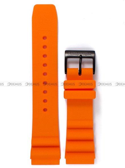 Pasek silikonowy do zegarka Nautica NAD10082G - 22 mm