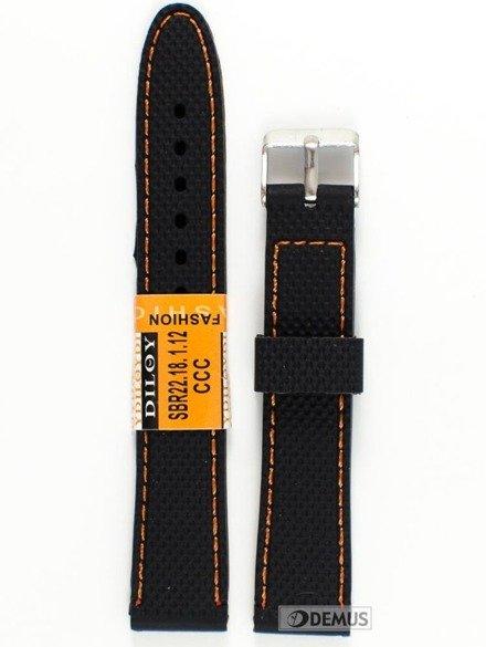 Pasek silikonowy do zegarka - SBR22.18.1.12 - 18 mm