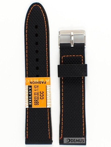 Pasek silikonowy do zegarka - SBR22.22.1.12 - 22 mm