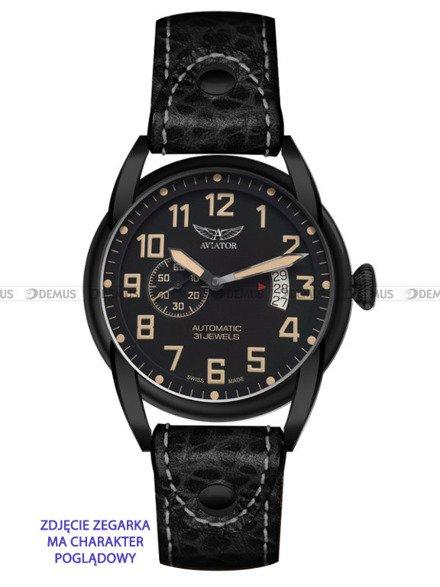 Pasek skórzany do zegarka Aviator Bristol V.3.07 - 22 mm