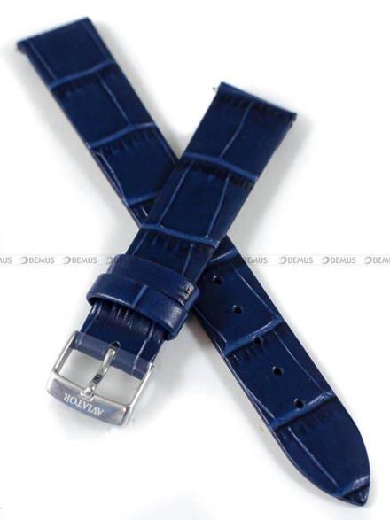 Pasek skórzany do zegarka Aviator V.1.33.0.255.4 - 16 mm