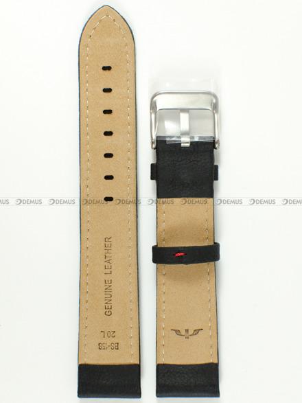 Pasek skórzany do zegarka Bisset BS-158 - 20 mm - XL