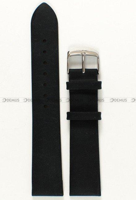 Pasek skórzany do zegarka Bisset BSAE58 - ABP/E58-Black - 20 mm