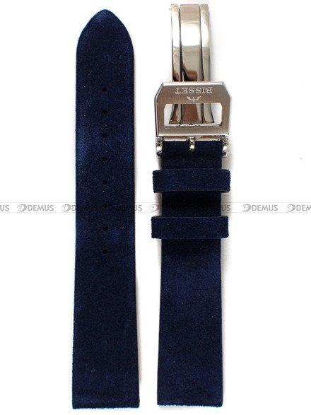 Pasek skórzany do zegarka Bisset BSCE84 - ABP/E84-Blue - 20 mm