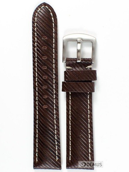 Pasek skórzany do zegarka - Chermond B002.20.2K - 20 mm