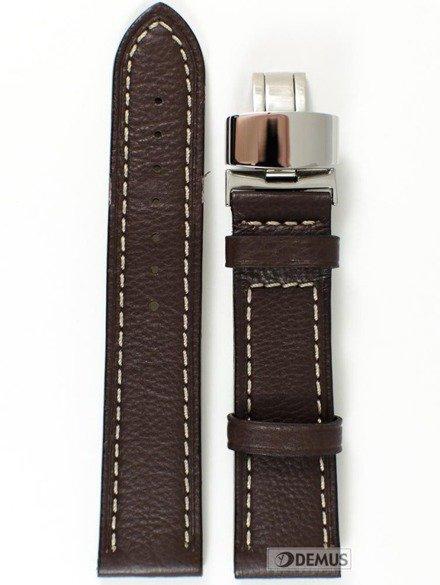 Pasek skórzany do zegarka - Condor 630R.02.22.W - 22 mm