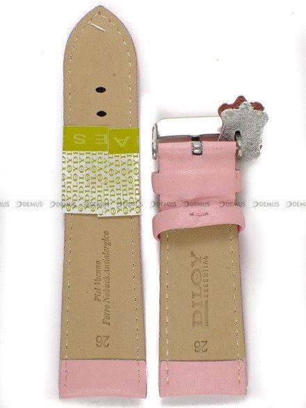 Pasek skórzany do zegarka - Diloy 302EA.26.13 - 26mm