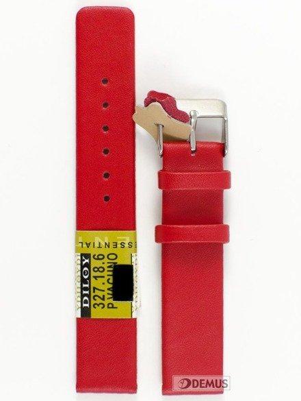 Pasek skórzany do zegarka - Diloy 327.18.6 - 18 mm
