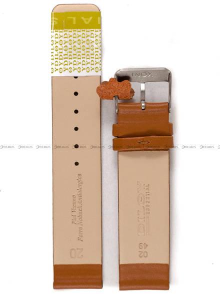 Pasek skórzany do zegarka - Diloy 327.20.3 - 20mm