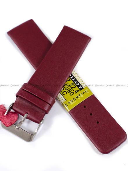 Pasek skórzany do zegarka - Diloy 327.22.4 - 22mm