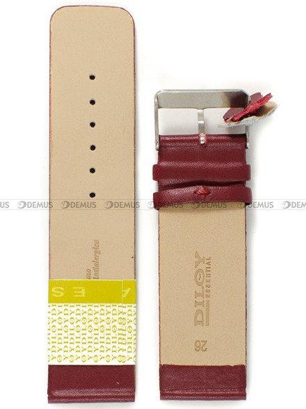 Pasek skórzany do zegarka - Diloy 327.26.4 - 26mm