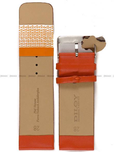 Pasek skórzany do zegarka - Diloy 327.28.12 - 28mm