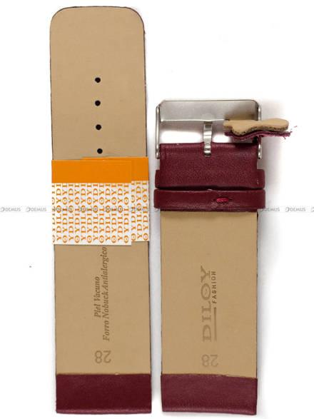 Pasek skórzany do zegarka - Diloy 327.28.4 28mm
