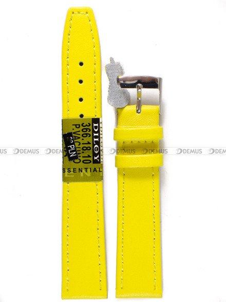 Pasek skórzany do zegarka - Diloy 366.18.10 - 18 mm