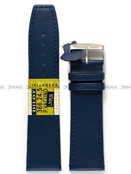 Pasek skórzany do zegarka - Diloy 366.24.5 - 24 mm