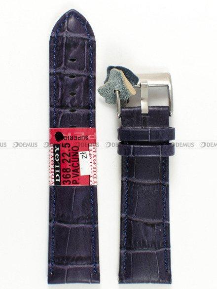 Pasek skórzany do zegarka - Diloy 368.22.5 - 22 mm