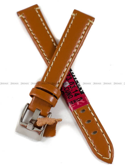 Pasek skórzany do zegarka - Diloy 373.14.3 - 14 mm
