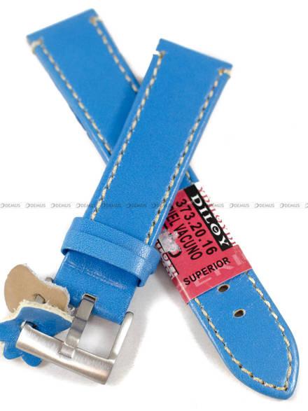 Pasek skórzany do zegarka - Diloy 373.20.16 - 20 mm