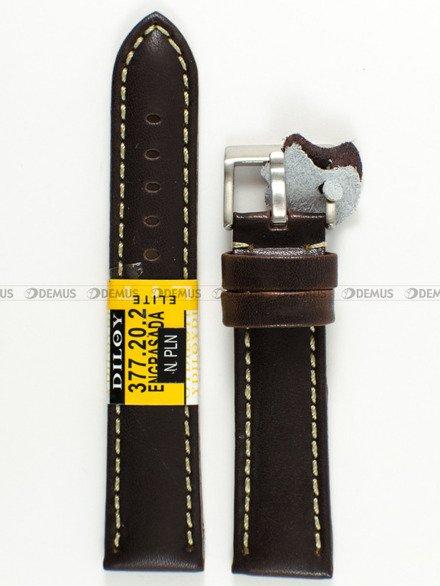 Pasek skórzany do zegarka - Diloy 377.20.2 - 20 mm