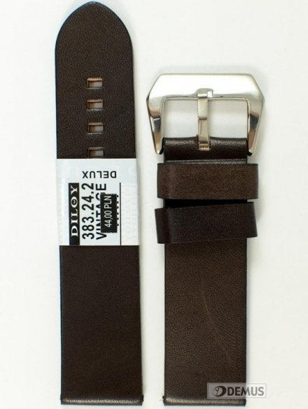 Pasek skórzany do zegarka - Diloy 383.24.2 - 24mm