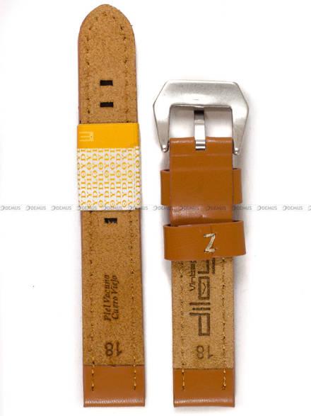 Pasek skórzany do zegarka - Diloy 384.18.3 - 18mm