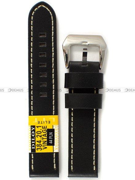 Pasek skórzany do zegarka - Diloy 384.20.1 - 20mm